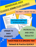 STAAR Study Guides: EACH TEKS on ONE PAGE