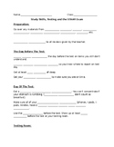 STAAR Study Skills and Test Strategy Note Sheet