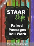 STAAR Style Paired Passages Bell Work (TEKS Aligned)
