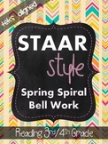 STAAR Style Spring Spiral Review (TEKS Aligned) 3rd/4th Grade