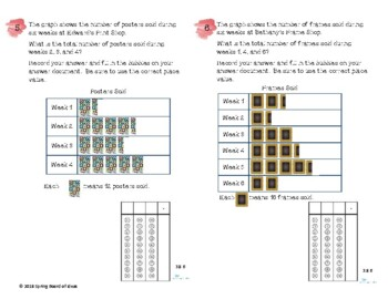 Test Prep Graph Practice Task Cards