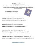 STAAR Success Homework Packet- My Baseball book
