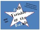 STAAR, TEK 5.4B Variable in the Result