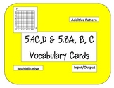 STAAR TEKS 5.4C, D Vocabulary Display Cards