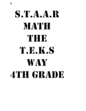 STAAR TEKS BASED 4TH GRADE MATH