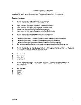 STAAR TEKS BASED MATH 4.1A-4.1B