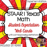STAAR | TEKS Texas Math Student Expectation Verb Cards