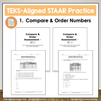 6th Grade Math STAAR Test Prep ~Compare & Order~ TEKS 6.2A 6.2B