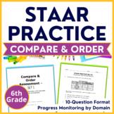 6th Grade Math STAAR Test Prep ~Compare & Order~ TEKS 6.2A