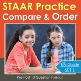6th Grade Math STAAR Practice Compare & Order Rational Numbers Test-Prep
