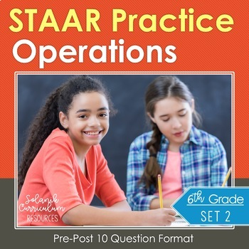 6th Grade Math {Integers & Rational Numbers } STAAR Test P