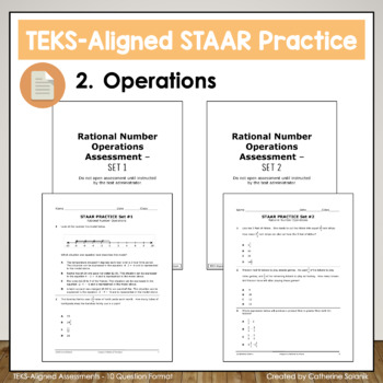 6th GRADE STAAR {Integers & Rational Numbers} TEKS 6.3D 6.3E 6.3A 6.3B 6.3C