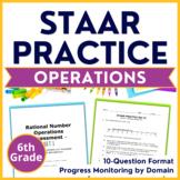 6th GRADE STAAR Practice Integer & Rational Number Operations TEKS Test-Prep