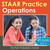 6th Grade Math STAAR Practice Set 2: Integer & Rational Number Operations