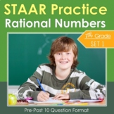 7th Grade Math STAAR Practice Set 1: Rational Numbers