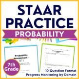 7th Grade Math STAAR Test {Probability} TEKS 7.6A 7.6C 7.6D 7.6E 7.6H 7.6I