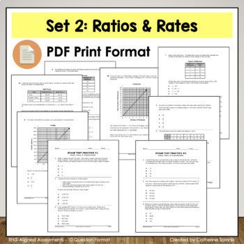7th Grade Math STAAR {RATIOS RATES PROPORTIONS} TEKS 7.4A 7.4B 7.4C 7.4D