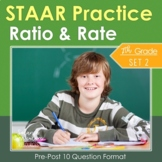 7th Grade Math STAAR Practice Set 2: Ratio & Rate