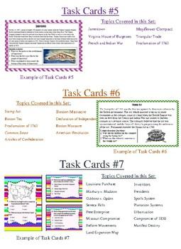 STAAR Task Card Bundle 1-3, 5-7