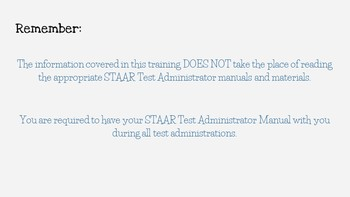 STAAR Test Administrator Training- Dr. Seuss Theme- *EDITABLE*
