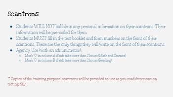 STAAR Test Administrator Training- Minecraft Theme- *EDITABLE*