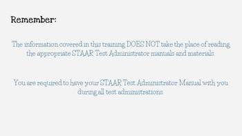 STAAR Test Administrator Training- Space Theme- *EDITABLE*