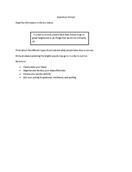 STAAR Test Expository Writing Prompt # 4
