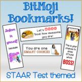 STAAR Test Motivation Bookmarks for BitMojis!