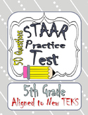 5th Grade Math STAAR Test Practice 50 questions