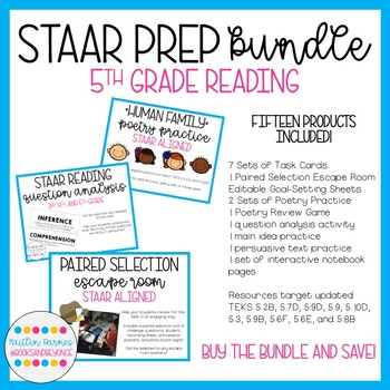 Reading staar test prep teaching resources teachers pay teachers staar test prep bundle 5th grade reading 15 resources total fandeluxe Images