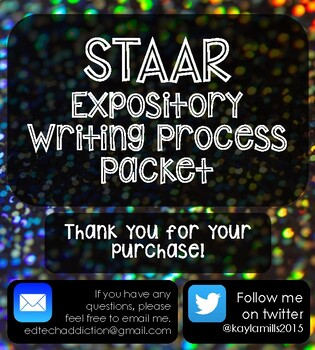 STAAR Test Prep Expository Composition Writing Process Packet 1