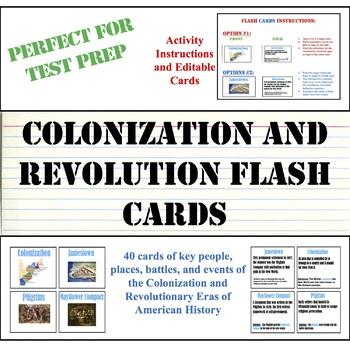 Staar Test Prep Flashcards Colonization And Revolutionary Eras Tpt