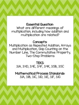 STAAR Test Prep-Multiplication