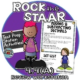 STAAR Test Prep Station Review Activity TEKS 4.4A Adding & Subtracting Decimals