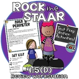 STAAR Test Prep Station Review Activity TEKS 4.5D Area and Perimeter