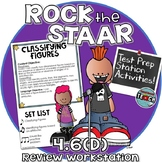 STAAR Test Prep Station Review Activity TEKS 4.6D Classifying Shapes