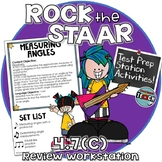 STAAR Test Prep Station Review Activity TEKS 4.7C Measuring Angles