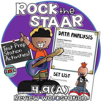 STAAR Test Prep Station Review Activity TEKS 4.9A Data Analysis