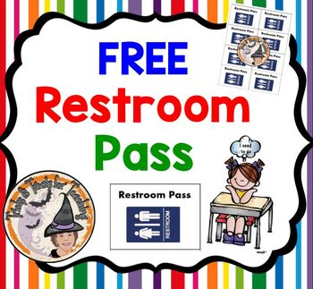 STAAR Test Restroom Passes for STAAR TESTING Bathroom PASS