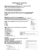 STAAR Reading Test Review Sheet Editable