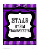 STAAR Test Stem Worksheets for Reading Practice