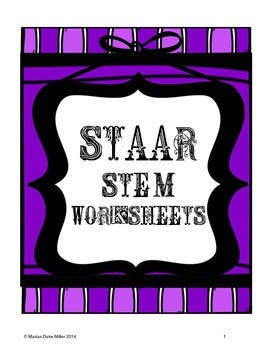 STAAR Test Stem Worksheets for Reading Practice