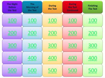 STAAR Test Taking Strategies - Jeopardy Review