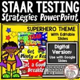 STAAR Testing Strategies PowerPoint and Google Slides | Standardized Testing