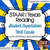 STAAR | TEKS Texas Reading Student Expectation Verb Cards
