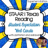 STAAR | Texas Reading Student Expectation Verb Cards (SAMPLE)
