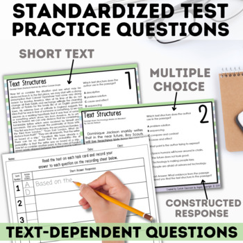 STAAR Text Structures Task Cards
