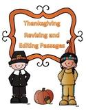 STAAR Thanksgiving Grammar Passages: Revising Passage and Editing Passage