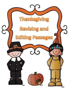 STAAR Thanksgiving Grammar Passages: Revising Passage and