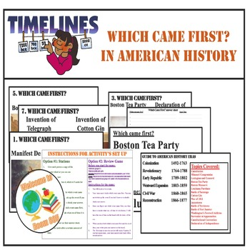 STAAR Timeline Activity Review